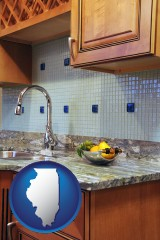 il a granite countertop