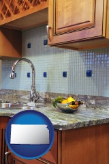 kansas a granite countertop