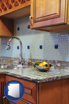a granite countertop - with Arizona icon