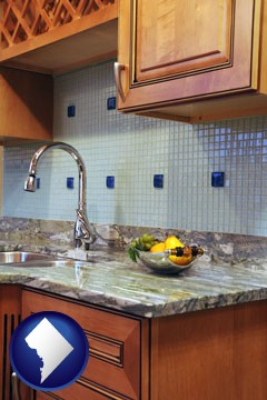 a granite countertop - with Washington, DC icon