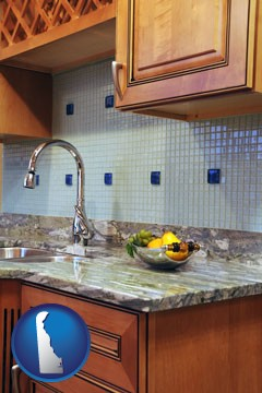 a granite countertop - with Delaware icon